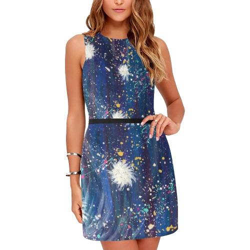 Sparkle Eos Women's Sleeveless Dress (Model D01)