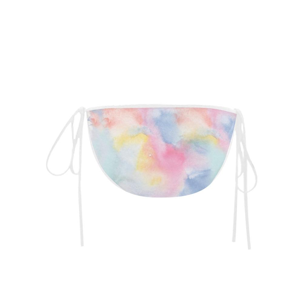 Colorful watercolor Custom Bikini Swimsuit Bottom