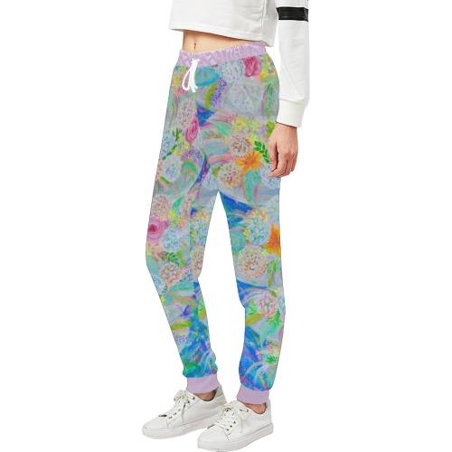 Flower Tornado Unisex All Over Print Sweatpants (Model L11)