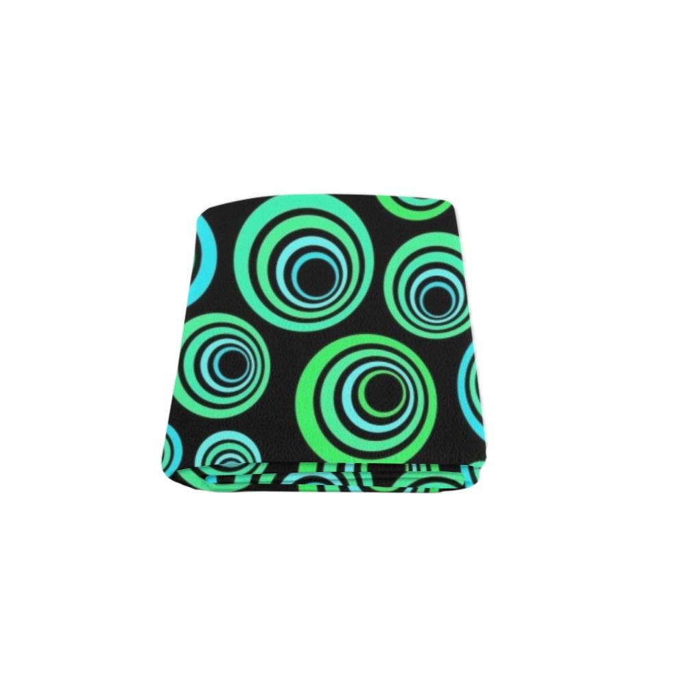 "Retro Psychedelic Pretty Green Pattern Blanket 50""x60"""