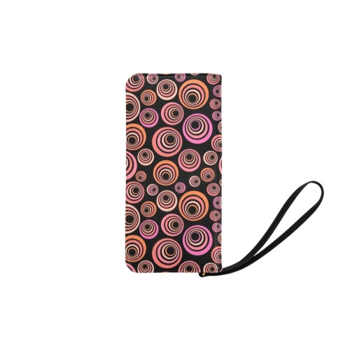 Retro Psychedelic Pretty Orange Pattern Women's Clutch Purse (Model 1637)