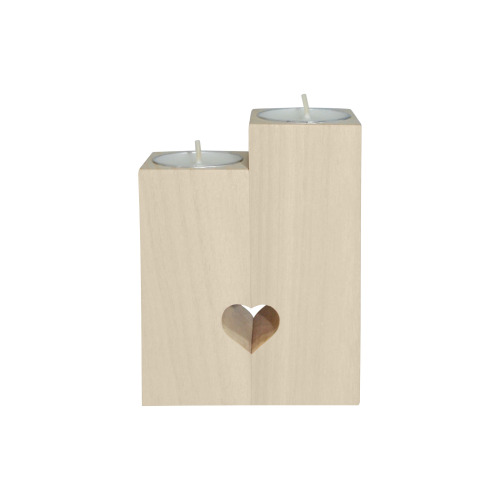 MANUSARTGND Wooden Candle Holder (Without Candle)