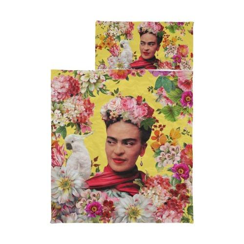 Frida Kahlo Cockatoo Love - Yellow Kids' Sleeping Bag