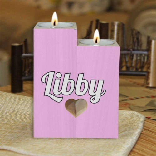 Libby Wooden Candle Holder (Without Candle)