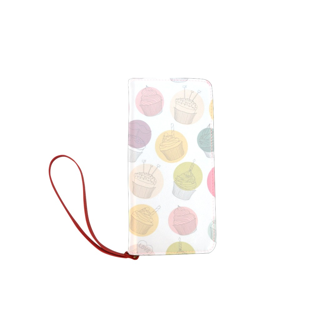 Colorful Cupcakes Women's Clutch Wallet (Model 1637)