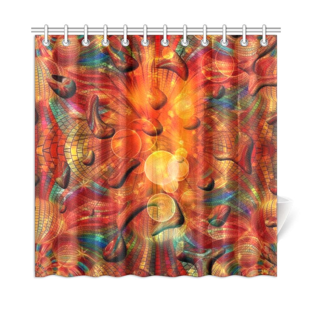 """Fire by Nico Bielow Shower Curtain 72""""x72"""""""