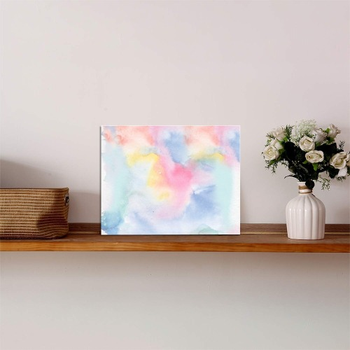 """Colorful watercolor Photo Panel for Tabletop Display 8""""x6"""""""