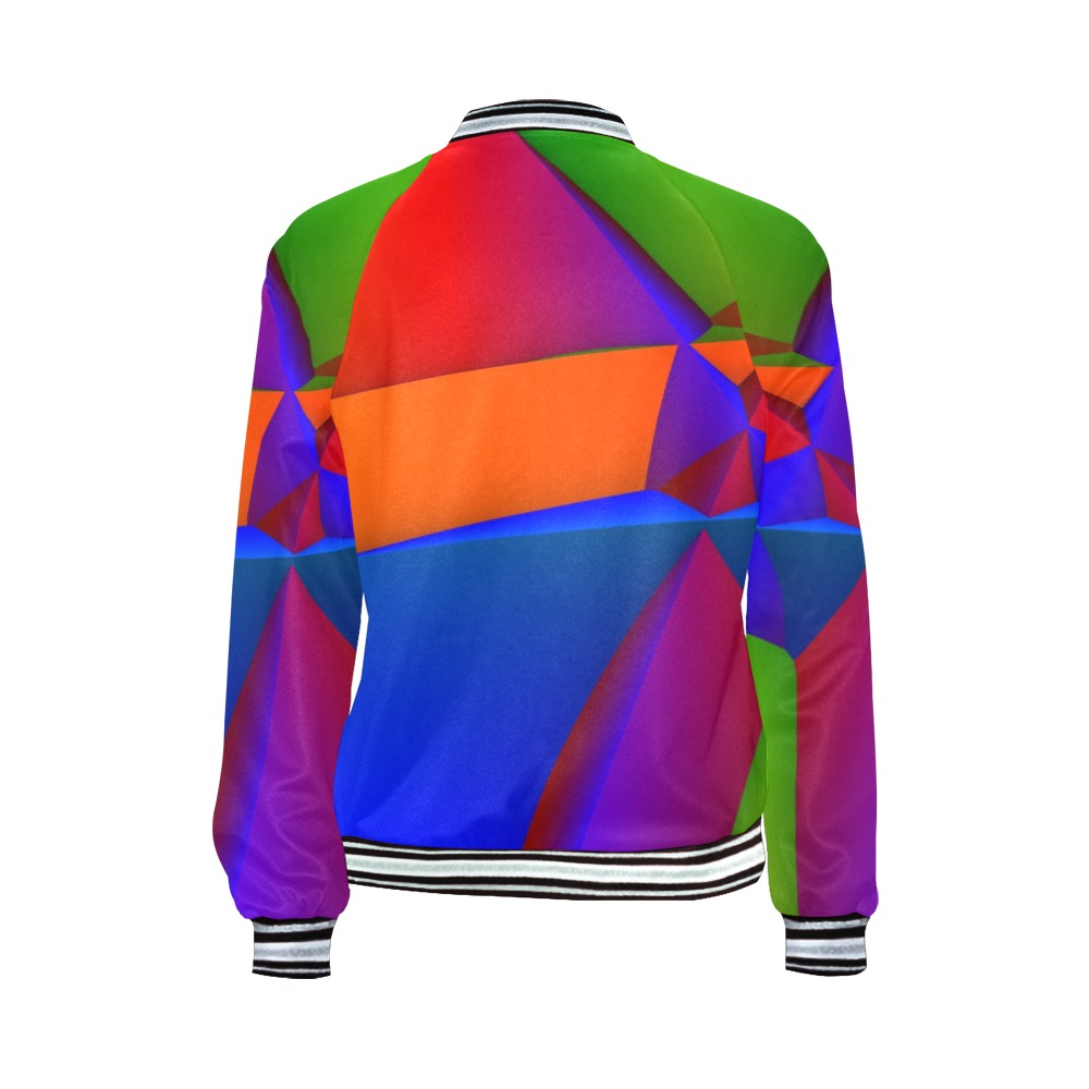 Circuses All Over Print Bomber Jacket for Women (Model H21)