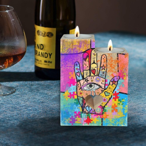 Hand by Nico Bielow Wooden Candle Holder (Without Candle)