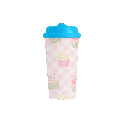Cupcakes Double Wall Plastic Mug