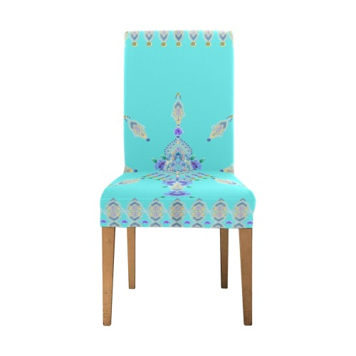 bleuet jaune Removable Dining Chair Cover