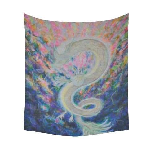"""Dragon Cotton Linen Wall Tapestry 51""""x 60"""""""
