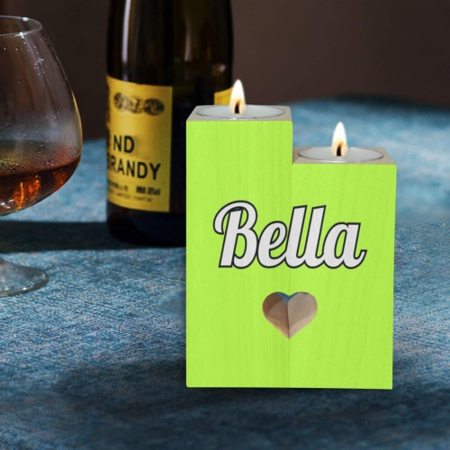 Bella Wooden Candle Holder (Without Candle)