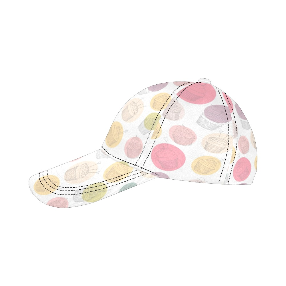 Colorful Cupcakes All Over Print Dad Cap C (6-Pieces Customization)