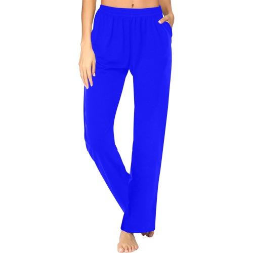 color blue Women's Pajama Pants (Sets 02)