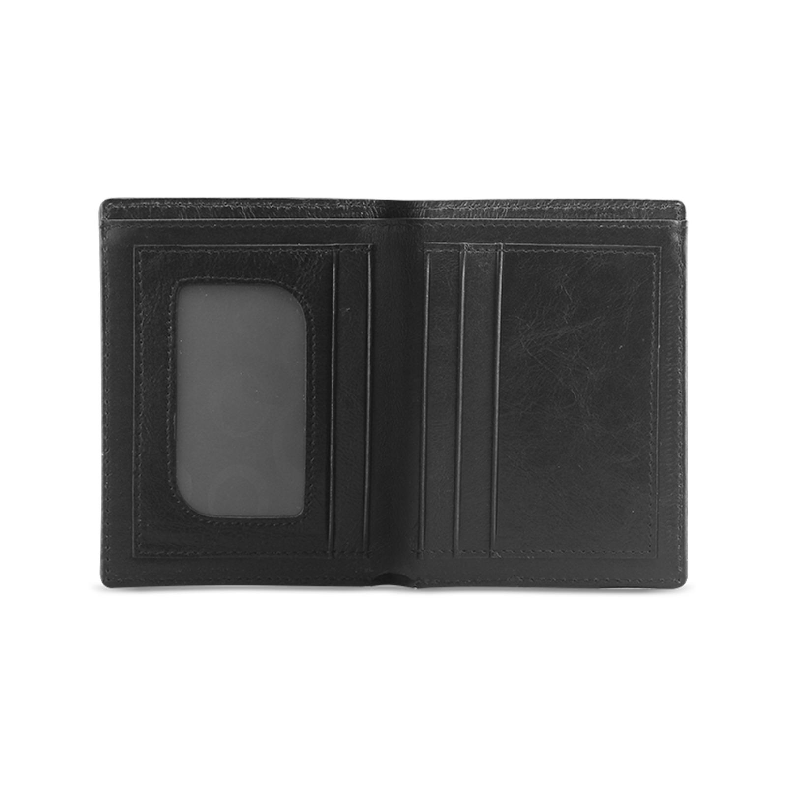 Monochrome Ink Men's Leather Wallet (Model 1612)