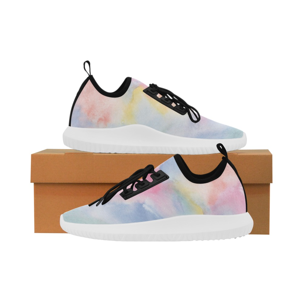 Colorful watercolor Dolphin Ultra Light Running Shoes for Women (Model 035)