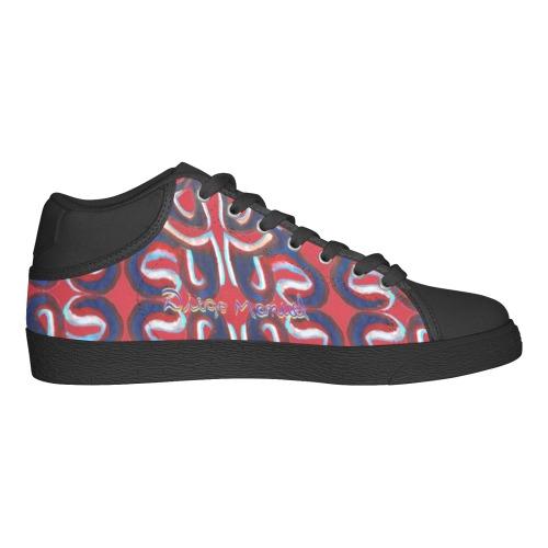 Graffiti real 4 Women's Chukka Canvas Shoes (Model 003)
