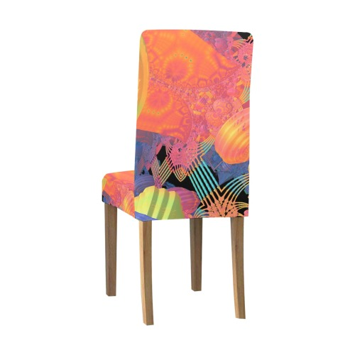 Mardi Gras Removable Dining Chair Cover