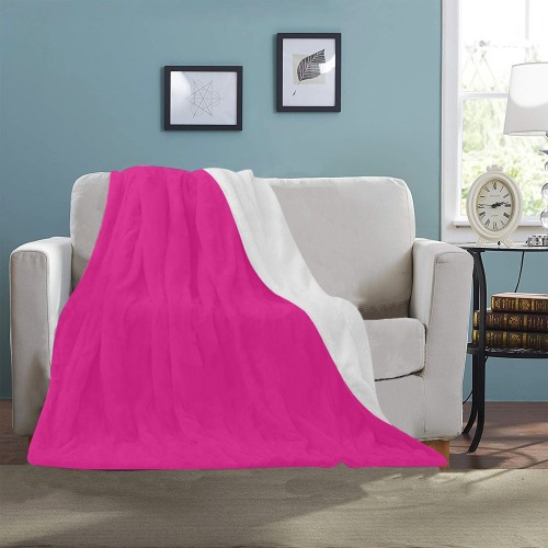 "color Barbie pink Ultra-Soft Micro Fleece Blanket 40""x50"""