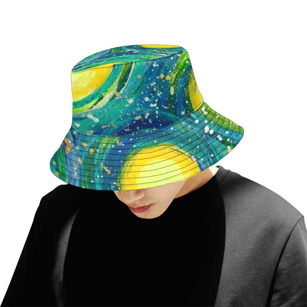 Multi Moon All Over Print Bucket Hat for Men