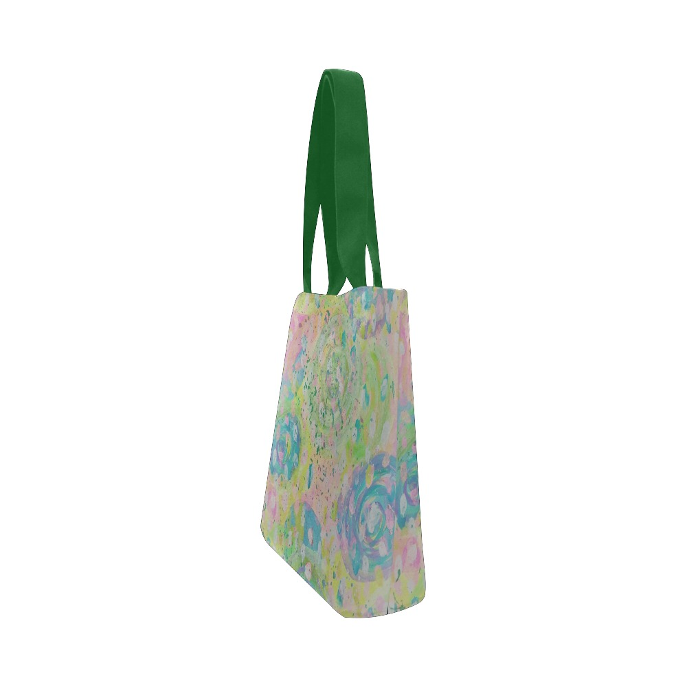 Rain Drop Canvas Tote Bag (Model 1657)