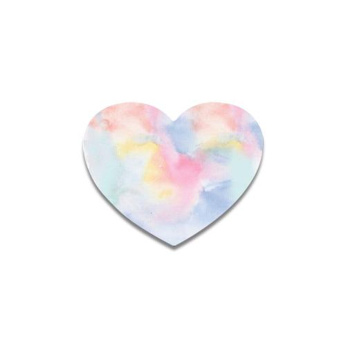 Colorful watercolor Heart Coaster