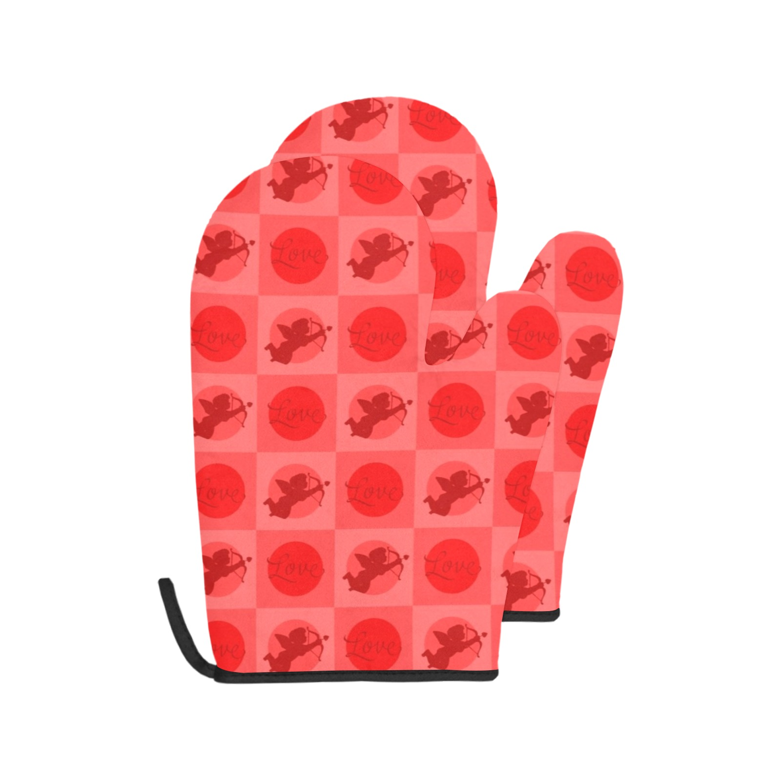 Cupid Oven Mitts Oven Mitt (Two Pieces)