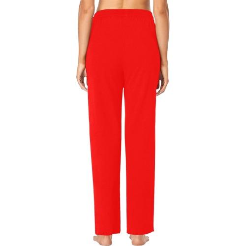 color red Women's Pajama Pants (Sets 02)