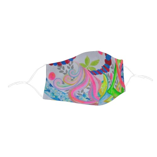 Number Magic 3D Plus Size Mouth Mask with Drawstring (Model M05)