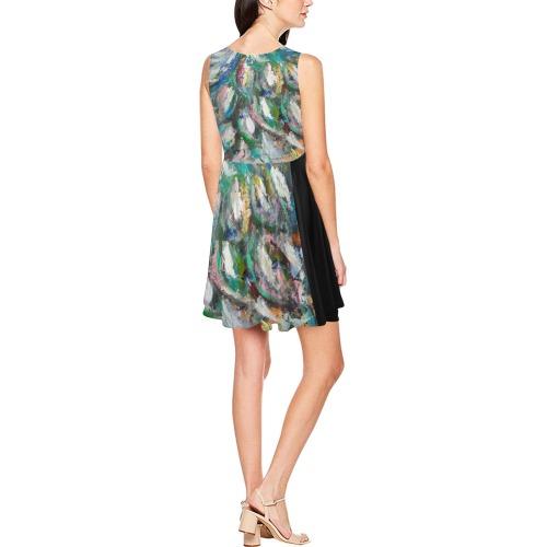 Peacock Thea Sleeveless Skater Dress(Model D19)
