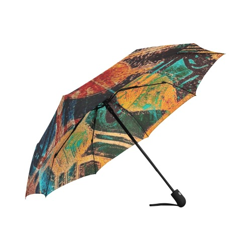 Leaf Pattern Auto-Foldable Umbrella (Model U04)