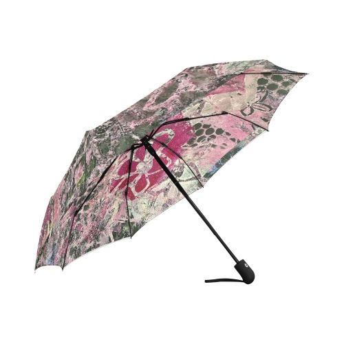 Antique Flower Auto-Foldable Umbrella (Model U04)