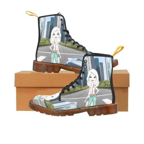 bota plana de mujer diseño city Martin Boots For Women Model 1203H