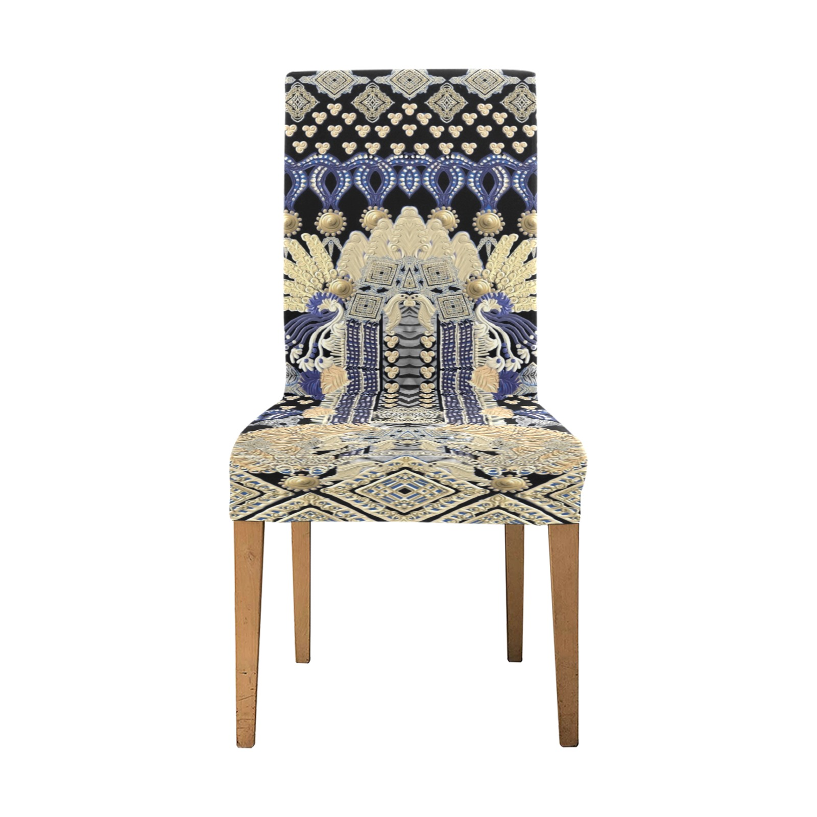 lion Removable Dining Chair Cover