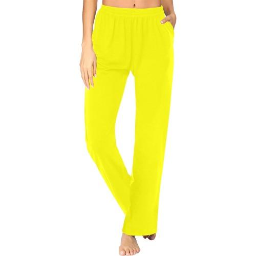 color yellow Women's Pajama Pants (Sets 02)