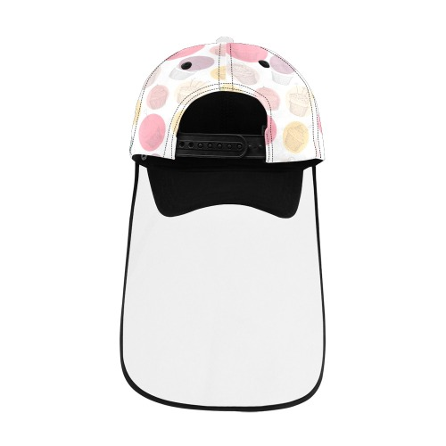 Colorful Cupcakes Dad Cap (Detachable Face Shield)