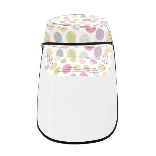 Colorful Cupcakes Military Style Cap (Detachable Face Shield)