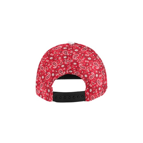 Red Gang All Over Print Snapback Hat D
