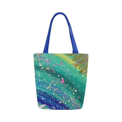 Abstract Painting Canvas Tote Bag (Model 1657)