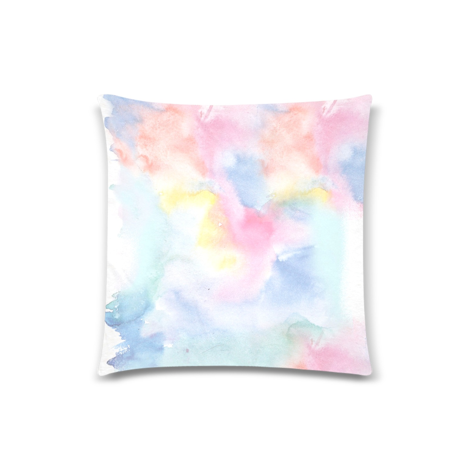 """Colorful watercolor Custom Zippered Pillow Case 18""""x18"""" (one side)"""