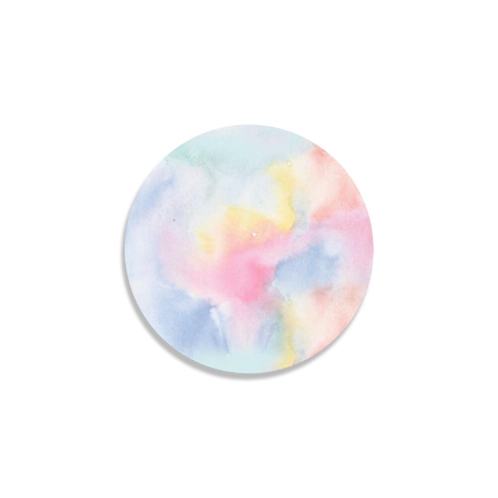 Colorful watercolor Round Coaster