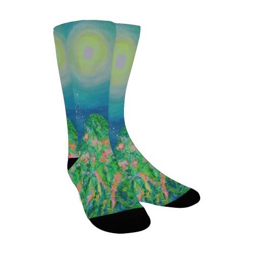 Mountain Moon Custom Socks for Women