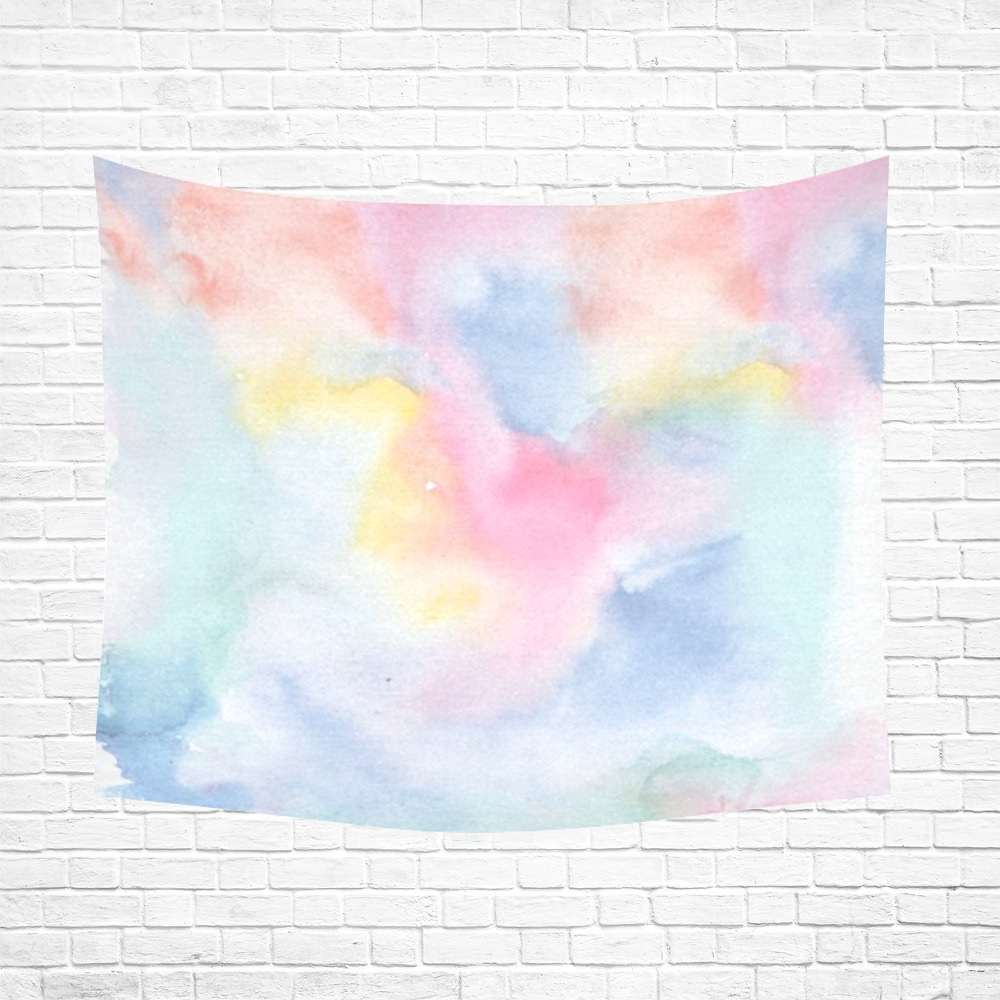 """Colorful watercolor Cotton Linen Wall Tapestry 60""""x 51"""""""