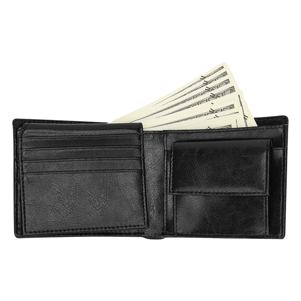Colorful watercolor Bifold Wallet with Coin Pocket (Model 1706)