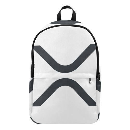 X WHITE BACKPACK Fabric Backpack for Adult (Model 1659)