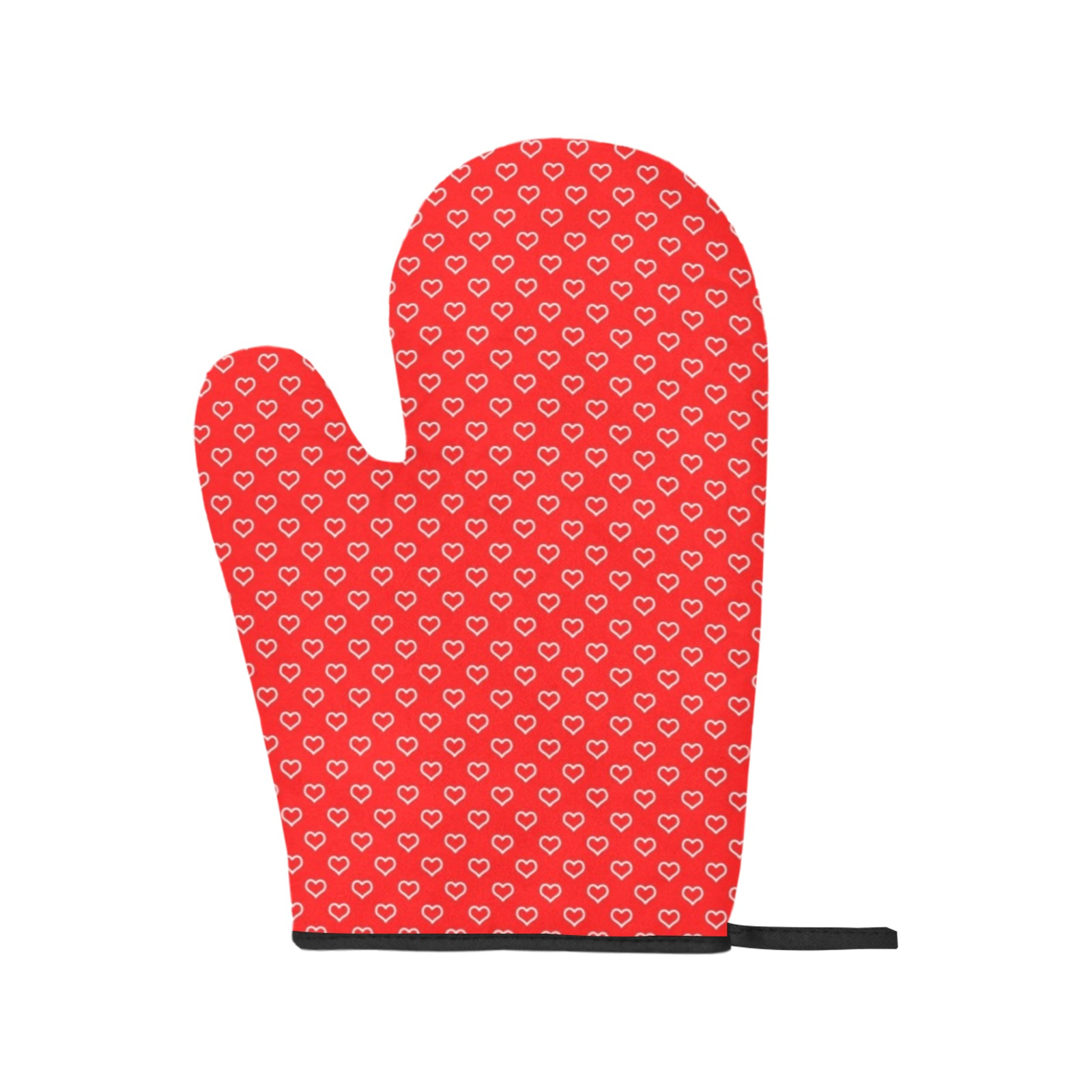 Valentine Hearts Oven Mitt (Two Pieces)