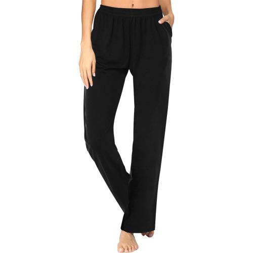 color black Women's Pajama Pants (Sets 02)
