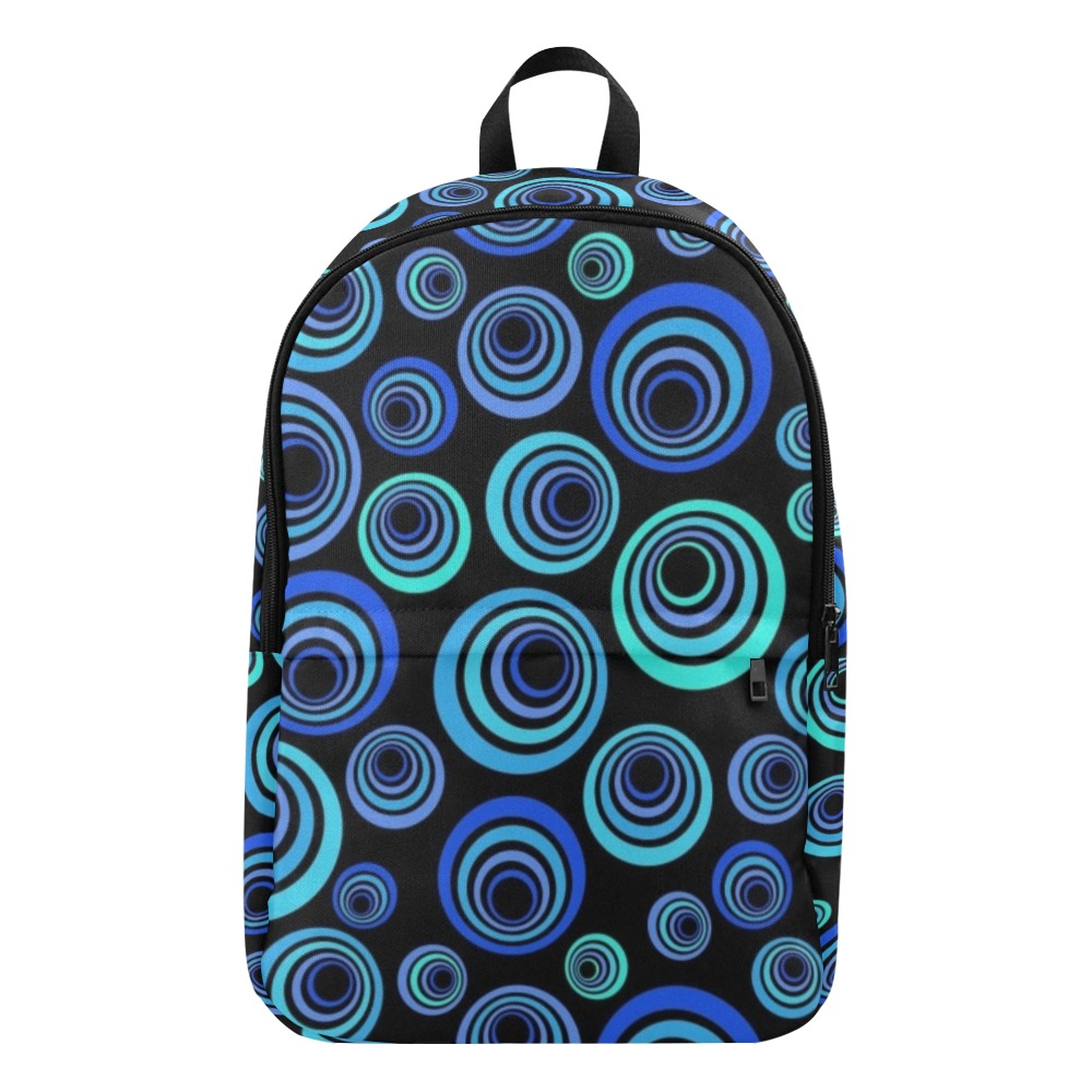 Retro Psychedelic Pretty Blue Pattern Fabric Backpack for Adult (Model 1659)