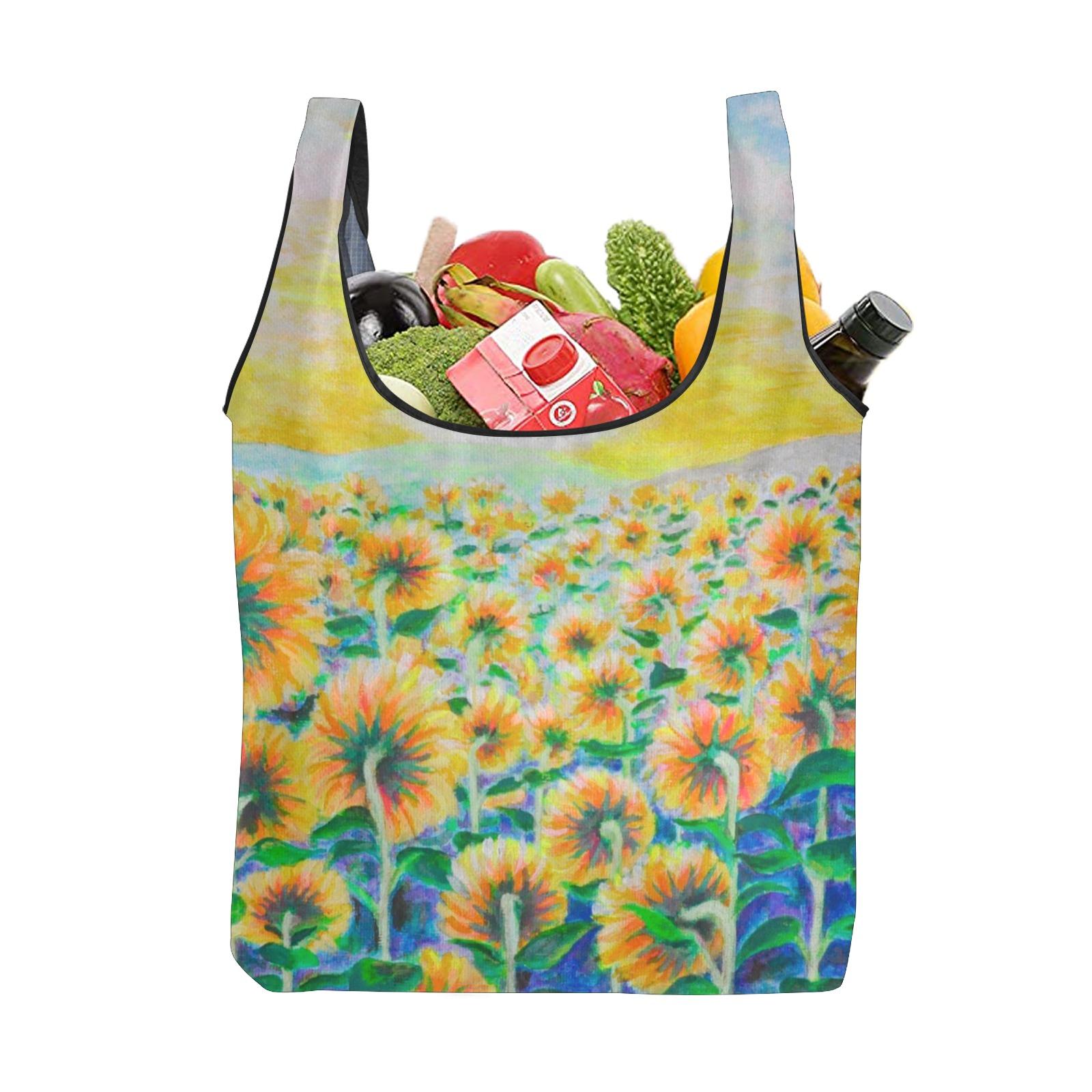 Sunflower Foldable Reusable Grocery Bag (Model 1716)